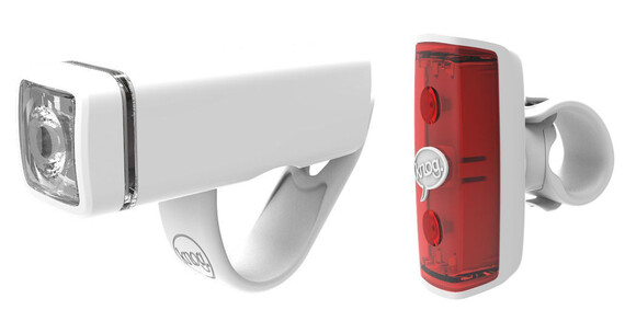 Knog POP Duo - Set luces a pilas - Twinpack blanco